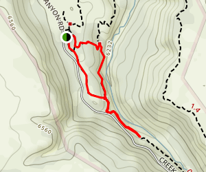 Castlewood Canyon Falls Trail Map