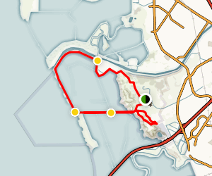 Bayview Trail to No Name Trail Loop Map
