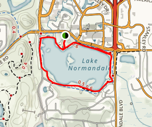 Lake Normandale Loop Trail Map