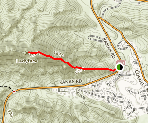 Ladyface Trail Map