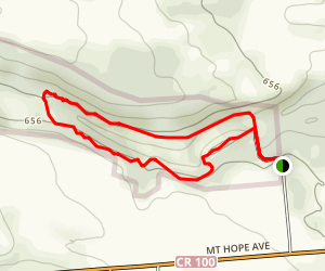 Mount Hope Reservoir Rim Trail Loop Map