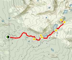 Duffy Lake Trail to Red Butte Peak Map