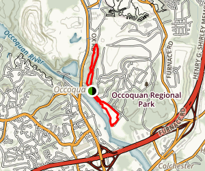 Occoquan Regional Park Loop Map