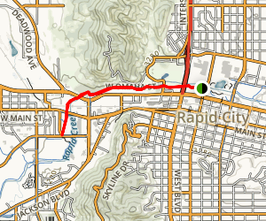 Rapid City Bike Path Map