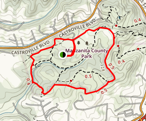Manzanita County Park Trails Map