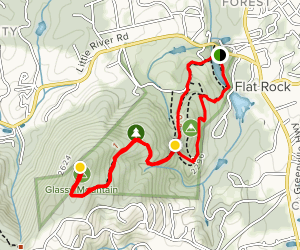 Memminger Trail Loop to Big Glassy Mountain Map