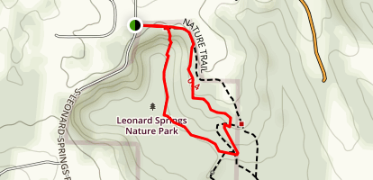Leonard Springs Nature Park Loop Map