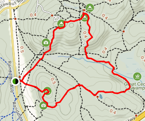 Skyline Loop Trail to Hawk's Hill Map