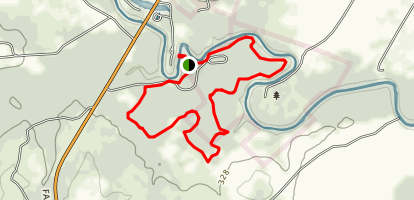 San Marcos River, Mesquite Flats and Ottline Swamp Loop  Map