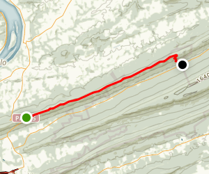 Appalachian Trail: Peters Mountain to Clarks Valley Map