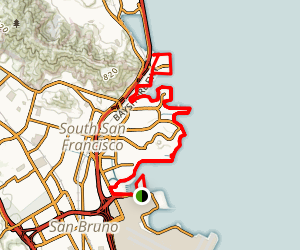 san francisco bay trail south san francisco map