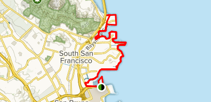 San Francisco Bay Trail: South San Francisco Map