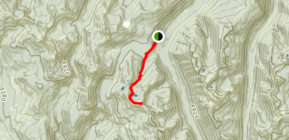 West Fork Lake and Lookout Map