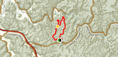 Double Arch to Courthouse Rock to Auxier Ridge Loop Map