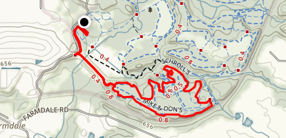 Mike and Don's and Schroll's Loop Trail Map