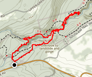 Sergeant Falls Side Trail (Yellow) Map
