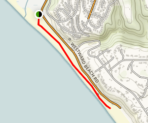 Westward Beach to Malibu Pier Trail Map
