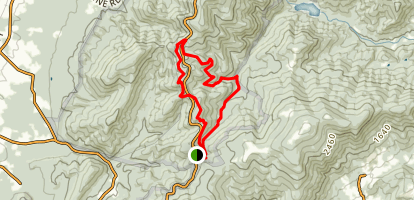 Jarman to Turk's Mountain Loop Map
