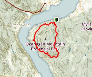 Okanagan Mountain Park Loop Map