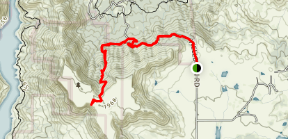 Wellbarn Road Trail to Big Table Mountain Map