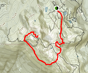 Whistler Peak: Half Note to High Note Map