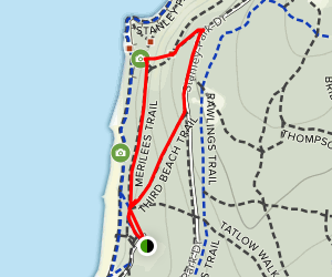 Third Beach Trail and Merilees Trail Map