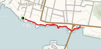 Bucksport Waterfront Walkway  Map