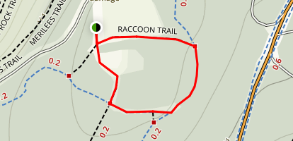 Racoon Trail and Thompson Trail Loop Map