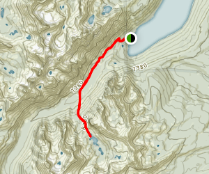 Redfish Lake to Saddleback Lake Map