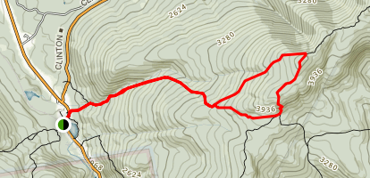 Mount Pierce and Mizpah Hut Loop Map