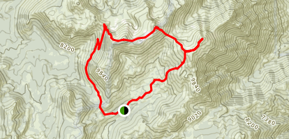 Freel Peak, Job's Sister, and Jobs Peak Loop Map