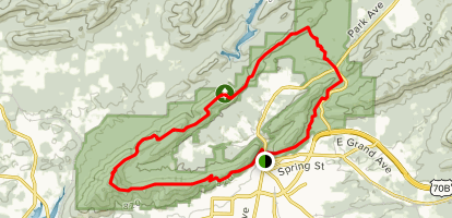 Hot Springs Sunset Trail Full Circle Map