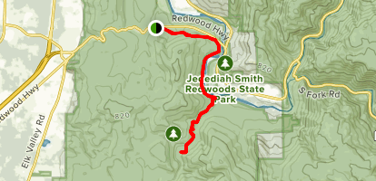 Hatton to Hiouchi to Mill Creek Trail Map