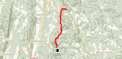 Appalachian Trail: State Route 140 to Clarendon Shelter via Long Trail Map