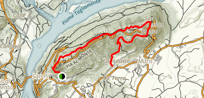 Club Alpino Italiano Trail 813 Map