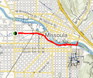Milwaukee Trail to Clark Fork Map