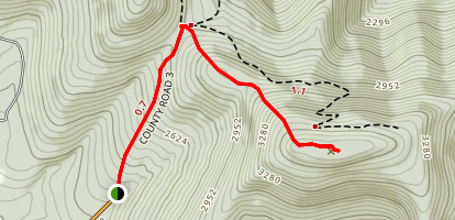 Vly Mountain Trail Map