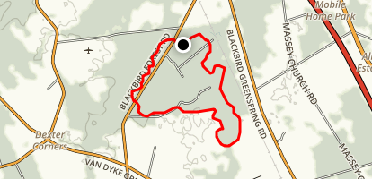 Tybout Tract Blue Trail Map