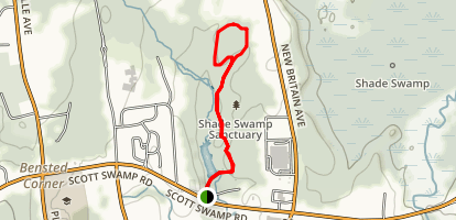 Shade Swamp Sanctuary White Trail Loop Map