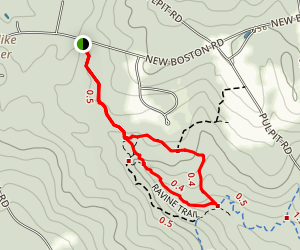 Kannard Trail to Campbell and Ravine Trail Loop Map