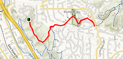 Sugarloaf Hill Ridge Top Trail Map