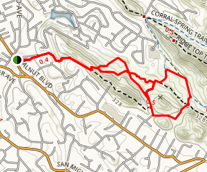 Fossil Hill Loop Trail Map