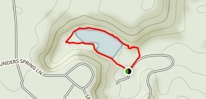 Saunders Springs Reservoir Loop Map