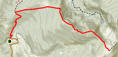 Deception Peak via Raven's Ridge Map