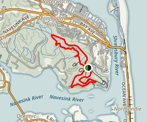 Cuesta Ridge, Grand Tour, Rocky Point and Battery Loop Map