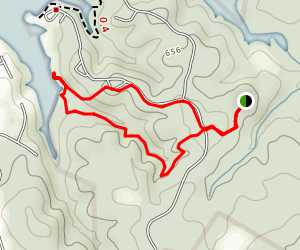 Oak Hill and Chestnut Loop Trail Map