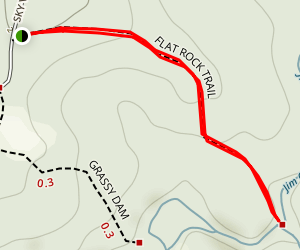 Flat Rock Trail Map