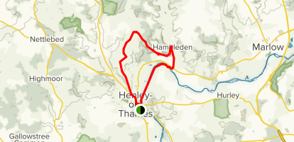 Henley Hills and River Thames Map