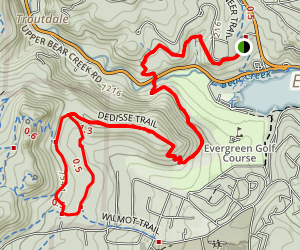Three Sisters, Dedisse, and Hidden Fawn Loop Trail Map