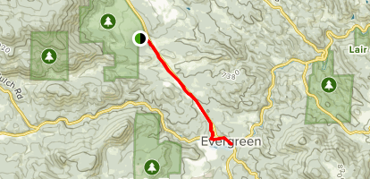 Pioneer Trail to Evergreen Lake Map